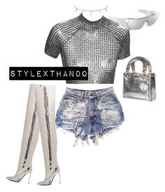 """""""silver surfer"""" by stylexthando on Polyvore featuring Christian Dior"""