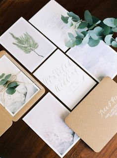 Add green to your invitations and save the dates