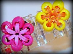 Blumen-Ring mit Perlen - Loom Bands mit Rainbow Loom - YouTube