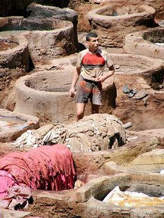 Tanneries - Fez, Morocco
