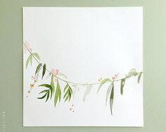 Plant mix no.02 8x10 Botanical Watercolor Collection by evajuliet