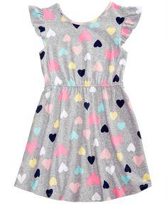 Epic Threads Little Girls Printed Flutter-Sleeve Super-Soft Dress, Created for Macy's Frocks For Girls, Kids Outfits Girls, Little Girl Outfits, Little Girl Fashion, Little Girl Dresses, Toddler Fashion, Kids Fashion, Girls Dresses, Review Dresses