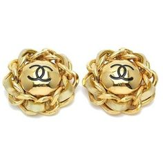 1960S Vintage Chanel Chain CC Earrings. #crave #chanel #vintage #'vintagestyle #vintagejewellery #1960s #1970s #1980s #1950s #jewellery