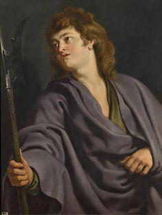 Rubens, Saint Matthew, 1610 - Oil on panel, x 82 cm © Museo Nacional del Prado. Exhibition at the Prado Museum brings together 82 sketches by Peter Paul Rubens - Alain. Peter Paul Rubens, St Mathew, Saint Matthew, Rubens Paintings, Top Paintings, Baroque Painting, Madrid, Office Artwork, People