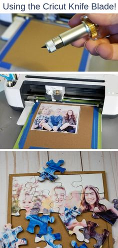 How to Make a Puzzle From a Picture For That Perfect Gift!, DIY and Crafts, Knife blade Cricut projects! Learn how to make a puzzle with a photo using chipboard, a Cricut Maker and the knife blade. A fun and easy DIY gift usin. Quick And Easy Crafts, Easy Diy Gifts, Diy And Crafts, Paper Crafts, Diy Gifts Creative, Useful Gifts, Diy Gifts For Men, Unique Gifts, Pot Mason Diy