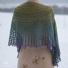 Oasis Hideaway Shawl - Downloaded and printed