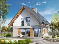 House In The Woods, My House, Modern Barn House, Steel Frame House, Micro House, Facade House, Home Fashion, Bungalow, House Plans