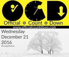 Winter 2016 Countdown Clock How many days left until Winter 2016? - Counting down the days left till to Winter with a free online Countdown Clock. Watch videos, get news, & see winter snow slideshows here. http://www.officialcountdown.com/winter/index.html
