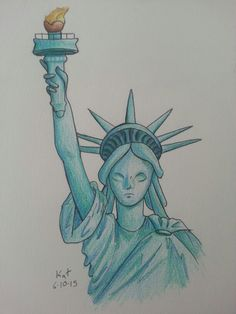 {By: Kat Cotta} I drew The Statue of Liberty for my mom's birthday, this isn't her gift... Well not technically..