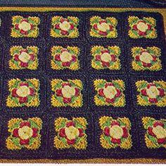 Rose Motif Crochet Rug Pattern