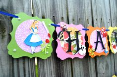 Mad Hatter Party Banner Alice In Wonderland Banner Mad Alice In Wonderland Font, Alice In Wonderland Characters, Alice In Wonderland Tea Party, Mad Hatter Party, Mad Hatter Tea, Mad Hatters, 1st Birthday Parties, Birthday Celebrations, Themed Parties