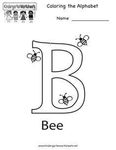 Letter B Coloring Worksheet