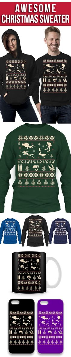 Scuba Diving Ugly Christmas Sweater! Click The Image To Buy It Now or Tag Someone You Want To Buy This For. #scubadiving