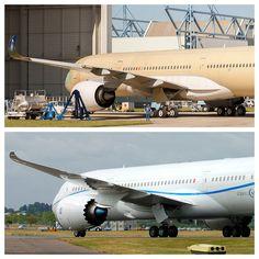 Airbus A350 XWB F-XWBA MSN1 & Boeing 787 Dreamliner N787BX ZA003 by Jon Ostrower, via Flickr