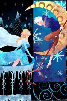 Jelsa-elsa and jack frost Disney Pixar, Disney Ships, Arte Disney, Disney Fan Art, Disney And Dreamworks, Disney Cartoons, Princesas Disney Dark, Jack Frost And Elsa, Pinturas Disney
