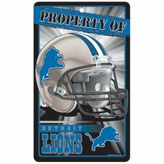 promo code 03bb9 9a2dc Detroit Lions Property Of Sign by WinCraft.  2.99. Officially licensed  decor signs. Size