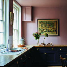 Yellow Kitchen Dark Cabinets - these are Farrow & Ball S Must Have Colours for 2019 -  these are farrow & ball s must have colours for 2019 fresh kitchen trends that will be huge in 2019 zellige tile backsplash green cabinets . Dark Kitchen Cabinets, Kitchen Units, Painting Kitchen Cabinets, Pink Kitchen Walls, Red Kitchen, Shaker Kitchen, Black Cabinets, Wall Cabinets, Farrow Ball