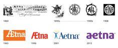Aetna logo evolution