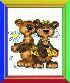 Masha And Misha Cross Stitch Kit By Riolis | MariesCrossStitch.co.uk
