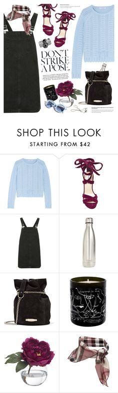 """join the 'check & plaid' contest (view description)"" by jesuisunlapin ❤ liked on Polyvore featuring Carven, Steve Madden, Topshop, S'well, Lanvin, Maison Bereto, Diane James, Pinko, Burberry and Georgie Beauty"