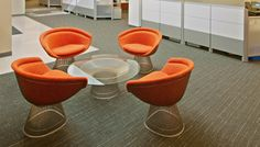 Platner Lounge Chairs and Coffee Table Collaborative Space, Product Development Process, Lounge Chairs, Collaboration, Spaces, Coffee, Table, Design, Chaise Lounge Chairs