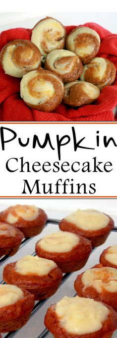 The perfect combination of spicy pumpkin and dreamy cheesecake married together in a bite-sized muffin. It's the treat you've been waiting for! These soft . Pumpkin Dishes, Pumpkin Recipes, Artisan Bread Recipes, Baking Recipes, Yummy Treats, Delicious Desserts, Yummy Food, Pumpkin Cheesecake Muffins, Diabetic Breakfast Recipes
