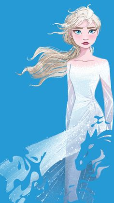 Disney Frozen 2 phone wallpaper Elsa and Nokk Frozen Disney, Princesa Disney Frozen, Walt Disney, Frozen Art, Olaf Frozen, Disney Art, Disney Movies, Frozen Movie, Disney Theme