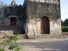 Old man walks by.  Piste, Yucatan