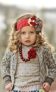 Persnickety Clothing - Peppermint Headband - Red - Holiday Red and Taupe Fabric Ribbon, Felt Fabric, Baby Boutique, Girls Boutique, Persnickety Clothing, Fade Styles, Diy Headband, Baby Head, Kids Fashion
