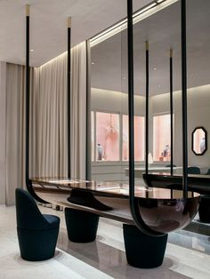 100 Best Interior Designers by Boca do Lobo and Coveted Magazine Best Interior, Luxury Interior, Modern Interior, Interior Architecture, Retail Interior Design, Modern Luxury, Hanging Furniture, Lobby Furniture, Workspace Design