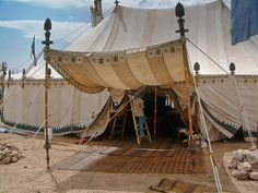 Alexander's Campaign Tent by Stefan the Cameraman, via Flickr - nice poles