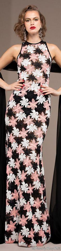 Floral Fashion, Pink Fashion, Fashion Looks, Peplum Dress, Dress Up, High Neck Dress, Moda Floral, Naeem Khan, Vintage Couture