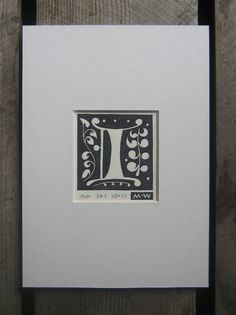 I // Alphabet Linocut Print // Limited Edition by Inkshed Press