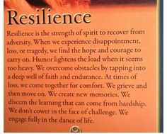 Resilience, we all have it.