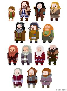 Hobbit Pixels Created by azidraws || Twitter