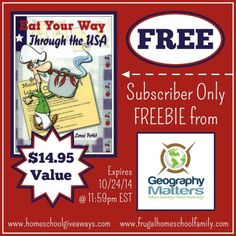 Download this Eat Your Way Through the USA Geography Freebie. This freebie is only valid through October 24, 2014.