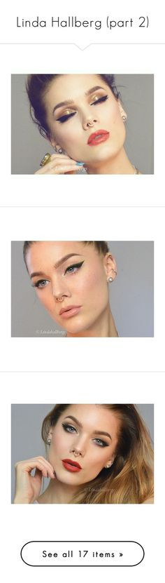 """Linda Hallberg (part 2)"" by tynabrookler on Polyvore featuring beauty products, makeup, eye makeup, eyeliner, glossy eye makeup, black eye makeup, green eyeliner, black eye liner, green eye liner and kohl eyeliner"