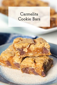 A carmely, no-mixing-necessary, layered bar for your Holiday Cookie Tray. Carmelita Bars, Cookie Tray, Holiday Cookies, Holiday Baking, Creative Food, Caramel, Fruit, Breakfast, Cake