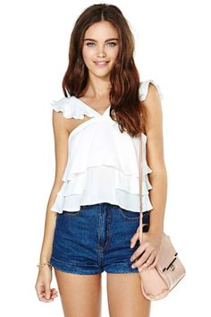 Ruffle My Feathers Crop Top