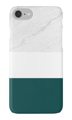 Marble & Teal Phone Case by ARTbyJWP from Redbubble #phonecase #phonecases #iphonecase #marblecase #teal #marble #artbyjwp #redbubble  ---  Minimal photo collage of marble texture and bold teal and white colors in stripes. • Also buy this artwork on wall prints, apparel, stickers, and more.