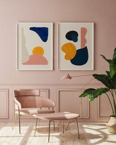 Mid Century Modern Colors, Mid Century Modern Living Room, Mid Century Modern Design, Mid Century Modern Wallpaper, Modern Art Prints, Modern Artwork, Modern Wall Art, Mid-century Modern, Modern Color Palette