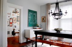 My Houzz: Modern meets Vintage in this Eclectic Nashville Home - eclectic - dining room - nashville - by Corynne Pless