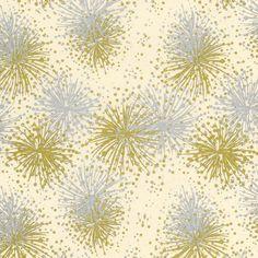 Celebration Print Lokta Paper - Gold & Silver on Cream