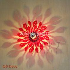 Encontre mais Lâmpadas de parede Informações sobre Minimalista e moderno europeu vermelho flores lâmpadas de parede sombra arandela luz para sala quarto corredor corredor, de alta qualidade além de lâmpada de iluminação, lâmpada dos desenhos animados China Fornecedores, Barato sensor de lâmpada a partir de QG-DECO em Aliexpress.com