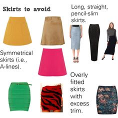 """""""Soft Natural (SN) - Skirts to avoid"""" by lightspring on Polyvore"""