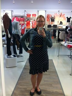 belted nautical dress with jean jacket 2013 Dress With Jean Jacket, Nautical Dress, Jackets, Dresses, Down Jackets, Vestidos, Dress, Gown, Jacket