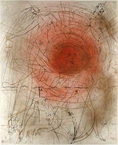 Salvador Dali, The Sun, Etching on Paper, Limited Edition