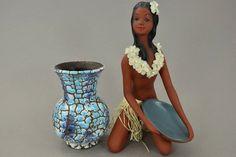 Atemberaubende Vintage Vase/ ES Keramik (Emons & Söhne) / Dekor Alaska | West Germany | WGP | 70er von ShabbRockRepublic auf Etsy