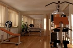 A home gym can be a great convenience. However, coming up with the perfect home gym design to suit personal preferences can be a challenge. The best home gym design increases the chance of achievin… Home Gym Design, House Design, Garden Design, Small Home Gyms, Home Gym Flooring, Gym Room At Home, Gym Interior, Best Home Gym, Workout Rooms