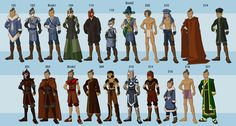 Photo of Avatar characters' wardrobe for fans of Avatar: The Last Airbender. You get to know all characters clothes